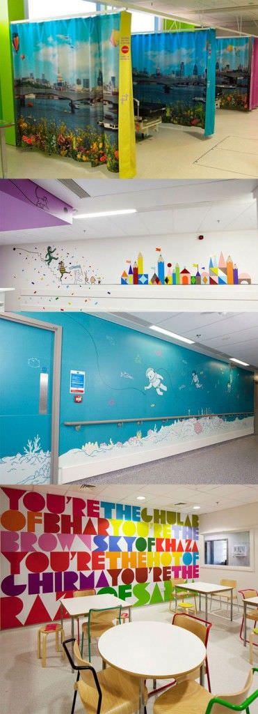 Fantásticas decoraciones de hospitales para niños