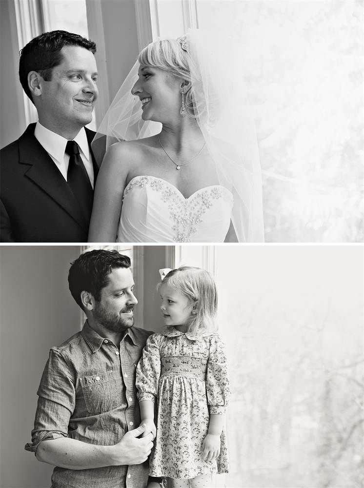 Un padre y su hija recrean las fotos de boda después de la muerte de su madre