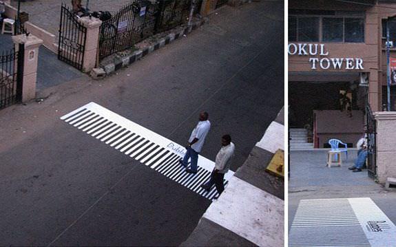 Pasos de cebra muy originales y creativos