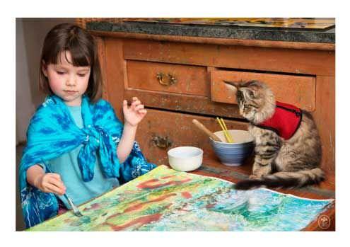Las increíbles obras de arte de una niña autista de 5 años