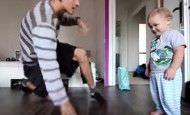 Duelo de baile entre un padre y su hijo, ¿quién crees que ganará?