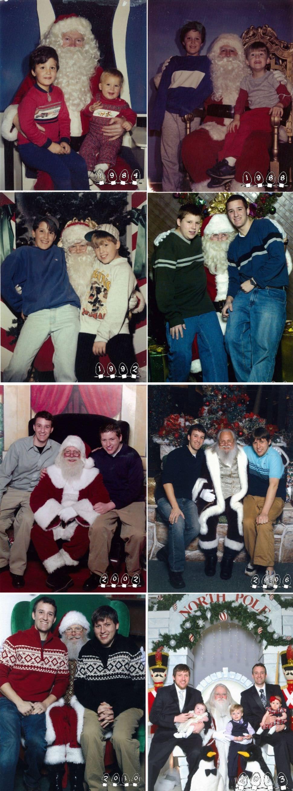 Estas personas se hicieron las mismas fotos a lo largo de los años. ¿Quieres ver cuánto han cambiado?