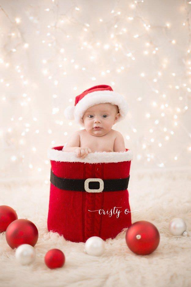 Fotografías de bebés que disfrutan a lo grande en Navidad 10