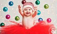 Fotografías de bebés que disfrutan a lo grande en Navidad