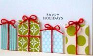 Ideas DIY Tarjetas para felicidad la Navidad y el Año Nuevo
