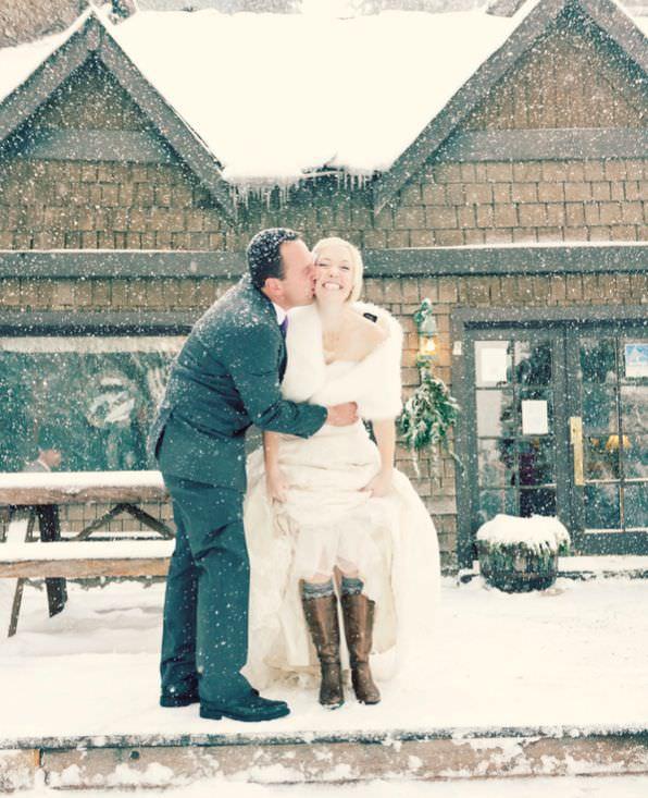 Las mejores fotos de bodas en invierno, en medio de la nieve 6