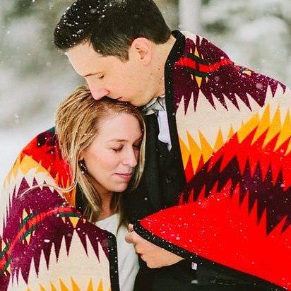 Las mejores fotos de bodas en invierno, en medio de la nieve 7