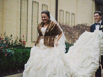 Las mejores fotos de bodas en invierno, en medio de la nieve
