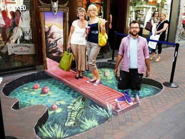 Este artista callejero sabe muy bien cómo dejar volar su imaginación 2