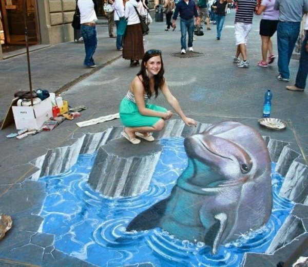 Este artista callejero sabe muy bien cómo dejar volar su imaginación 5