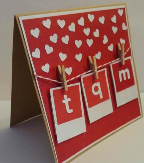 Ideas de tarjetas para San Valentín que puedes hacer tú mismo 3