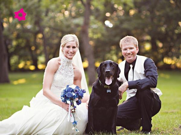 Mascotas fotografías de bodas con los novios y sus mascotas 6