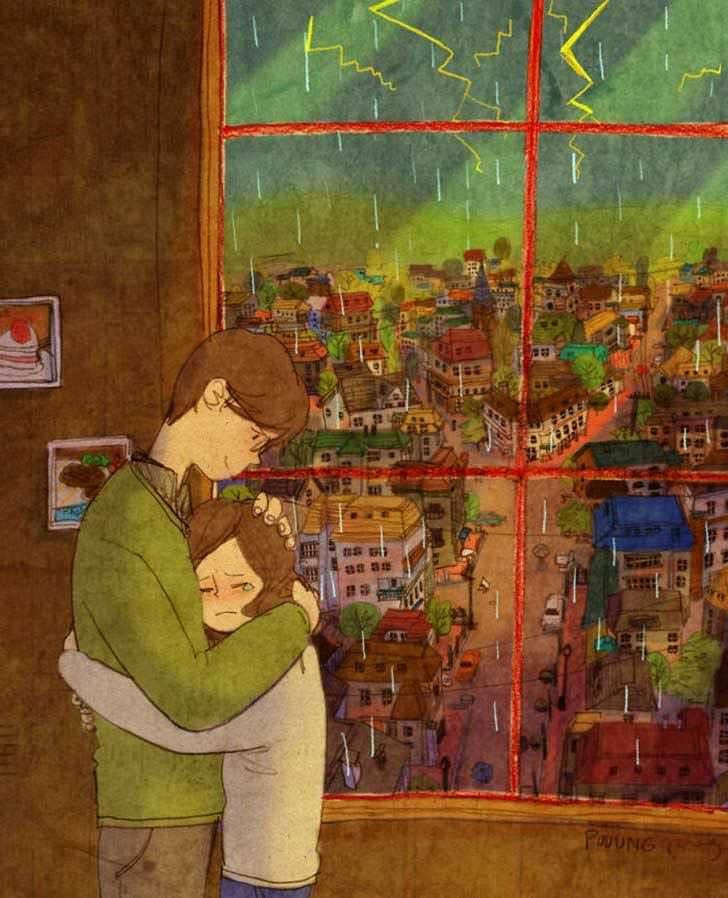 Bonitas ilustraciones nos muestran cómo es el amor verdadero 1