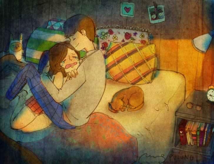 Bonitas ilustraciones nos muestran cómo es el amor verdadero 10
