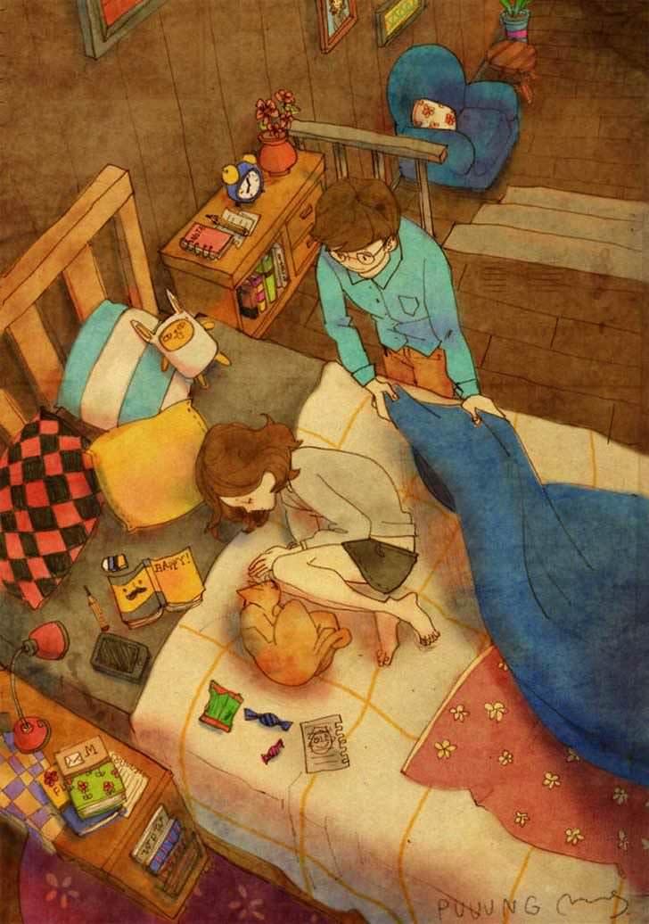 Bonitas ilustraciones nos muestran cómo es el amor verdadero 11