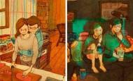 Bonitas ilustraciones nos muestran cómo es el amor verdadero