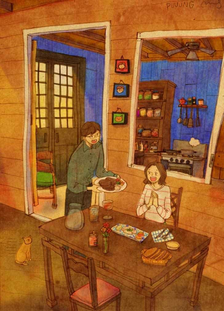 Bonitas ilustraciones nos muestran cómo es el amor verdadero 2