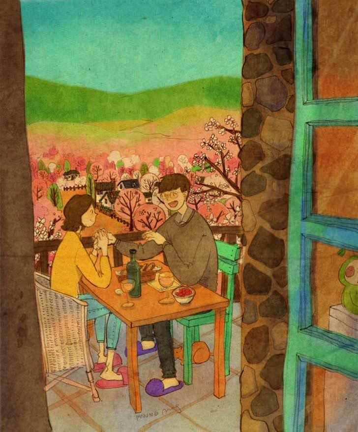 Bonitas ilustraciones nos muestran cómo es el amor verdadero 3