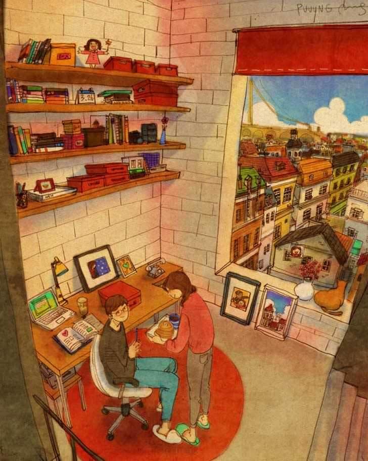 Bonitas ilustraciones nos muestran cómo es el amor verdadero 4