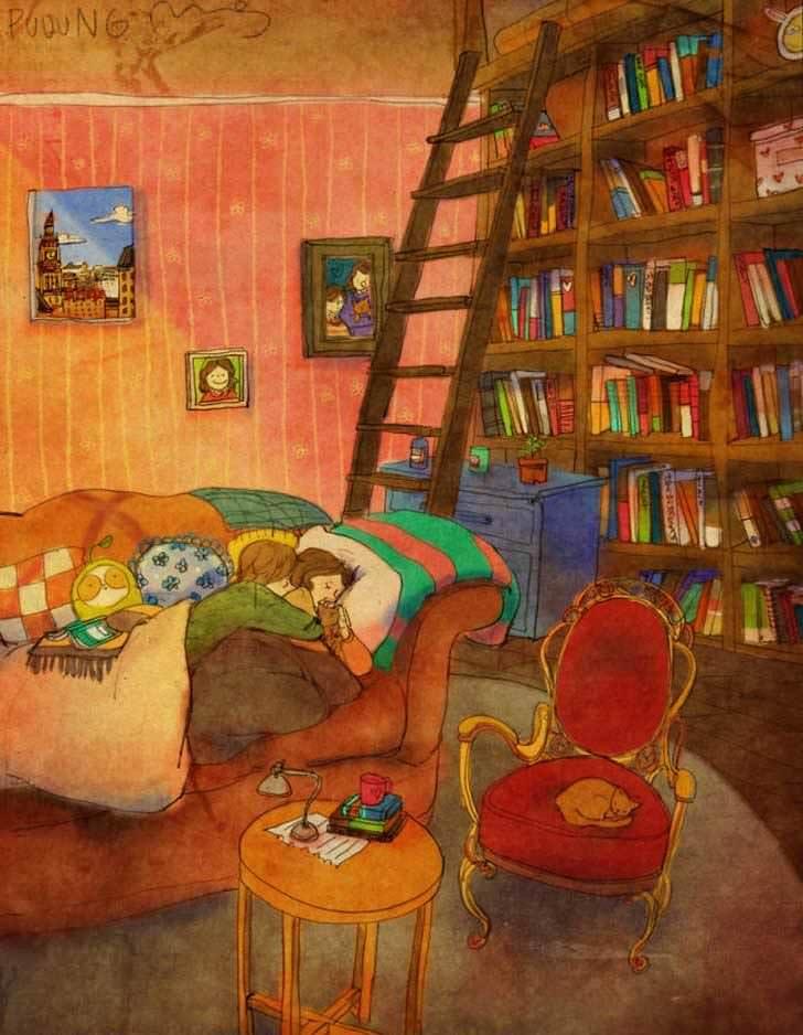 Bonitas ilustraciones nos muestran cómo es el amor verdadero 6