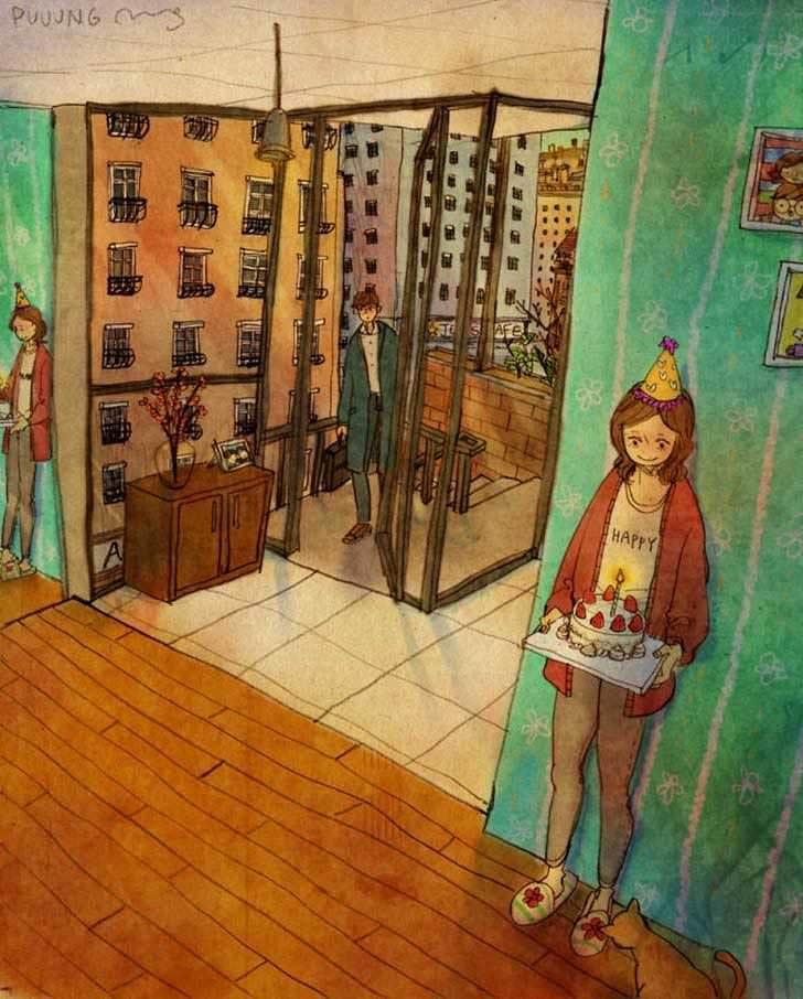 Bonitas ilustraciones nos muestran cómo es el amor verdadero 7