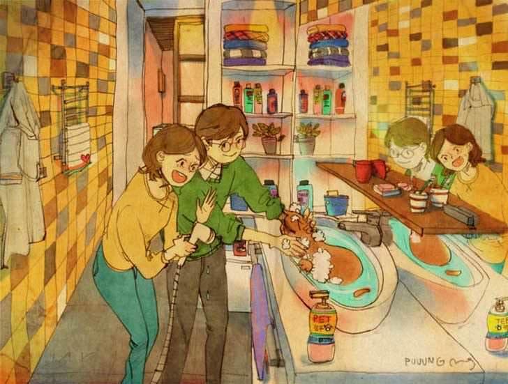 Bonitas ilustraciones nos muestran cómo es el amor verdadero 8