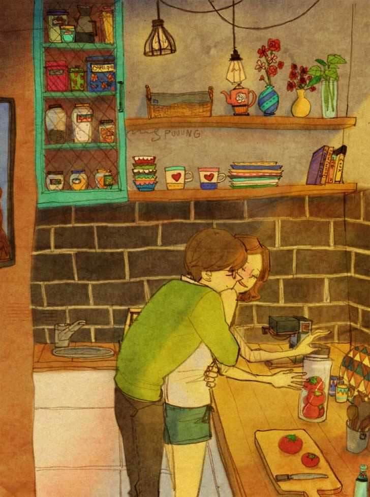 Bonitas ilustraciones nos muestran cómo es el amor verdadero 9