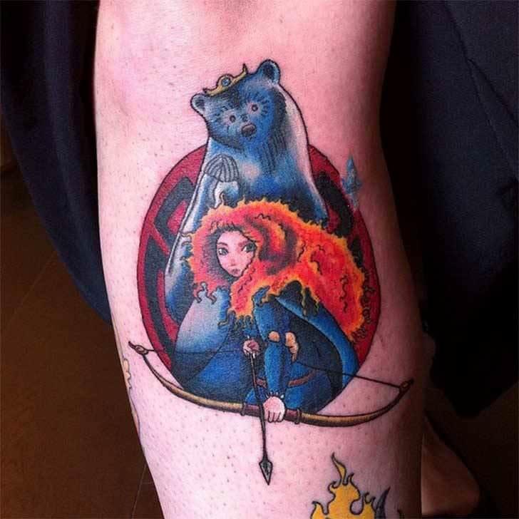 Princesas Disney convertidas en bonitos tatuajes 16