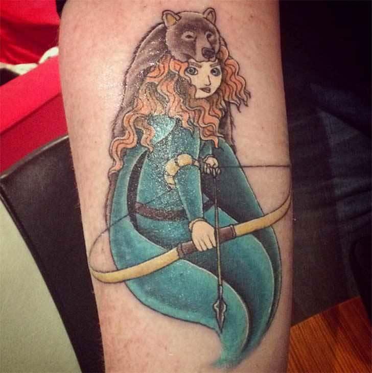 Princesas Disney convertidas en bonitos tatuajes 22