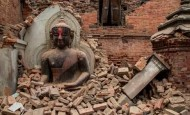 Terremoto del Nepal antes y después de los monumentos históricos